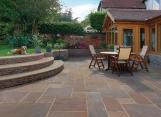 Pavestone Natural Stone Paving Premium Select Raj Blend 600x600mm