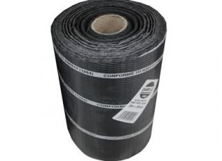 Polythene DPC Brickgrip Black 600mmx30m