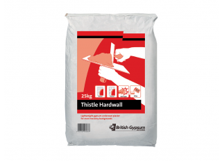 British Gypsum Thistle Hardwall Plaster 25kg