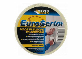 Everbuild EuroScrim Drywall Scrim Self Adhesive Joint Tape 48mmx90m