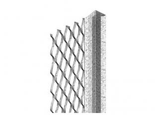 Expamet Galv Plaster Stop Bead (60mm Wing) 10mmx2.4m