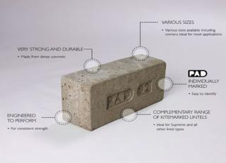 Concrete Padstone 215x140x102mm PAD01