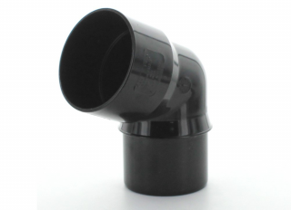 Hunter BR020 Rainwater 112.5 Deg Bend Black 68mm