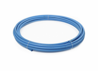 Polypipe 2525BU Blue MDPE Water Pipe 25mmx25m