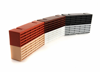 Timloc Plastic Air Brick Buff 215x75mm (9x3in)