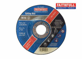 Faithfull Stone Cutting Disc 3.2x22x115mm