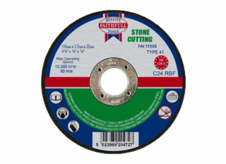Faithfull Stone Cutting Disc 3.2x22x230mm