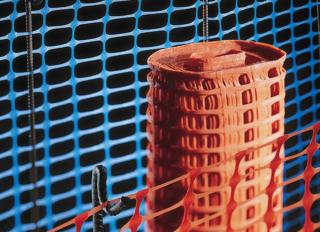 Orange Netting Safety Barrier Roll  50x1m