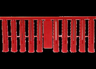 JCP Plastic Plug Red (Pack 100)