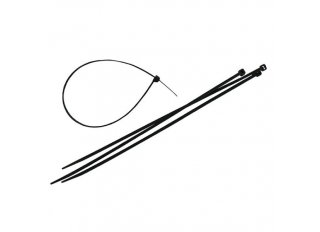 Faithfull Cable Ties Black 300x3.6mm (Pack 100)