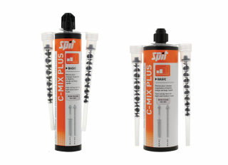 Spit C-Mix Plus Grey Polyester Resin 300ml with 2 Nozzles