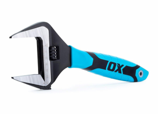 Ox Pro Adjustable Wrench Extra Wide Jaw 250mm (10in)