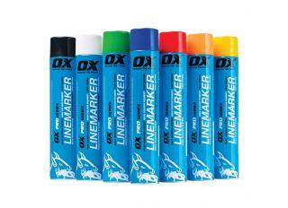 Ox Trade Permanent Line Marker Spray Paint Yellow 750ml