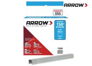 Arrow 506 Staples T50 10mm (3/8in) (Box 1250)