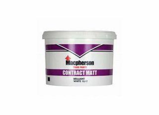 Macpherson Contract Matt Emulsion Brilliant White 10L