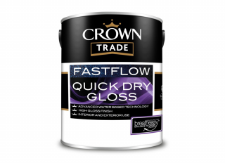Crown Trade Fastflow Quick Dry Gloss White 1L