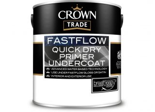 Crown Trade Fastflow Quick Dry Primer/Undercoat White 1L