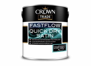 Crown Trade Fastflow Quick Dry Satin White 1L