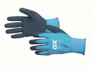 Ox Foam Latex Gloves Waterproof Size 9 Large