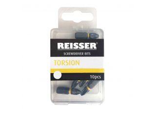 Reisser Impact Torsion Screwdriver Bits Tic-Tac Box (25 Pcs) PZ2x25mm