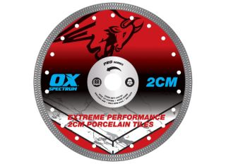 Ox Pro 2CM Porcelain Cutting Blade 230x23/22mm