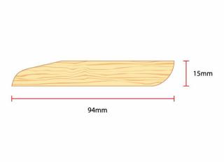 14x94mm (Nom 19x100mm) Redwood Chamf & Bullnose Skirting Vth