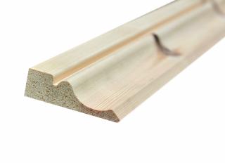20x69mm (Nom 25x75mm) Redwood Ogee Architrave Ex 50mm FSC