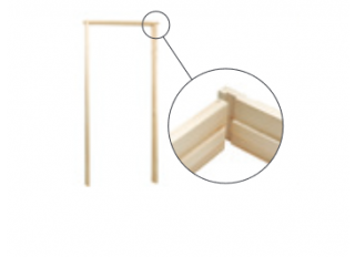 32x115mm Softwood Door Lining Set 2'6 - 2'9 Rev