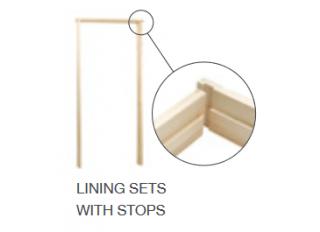32x138mm Softwood Door Lining Set 2'6 - 2'9 Rev