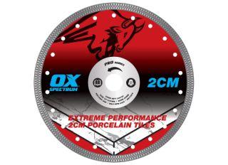 Ox Pro 2CM Porcelain Cutting Blade 230x23/22mm