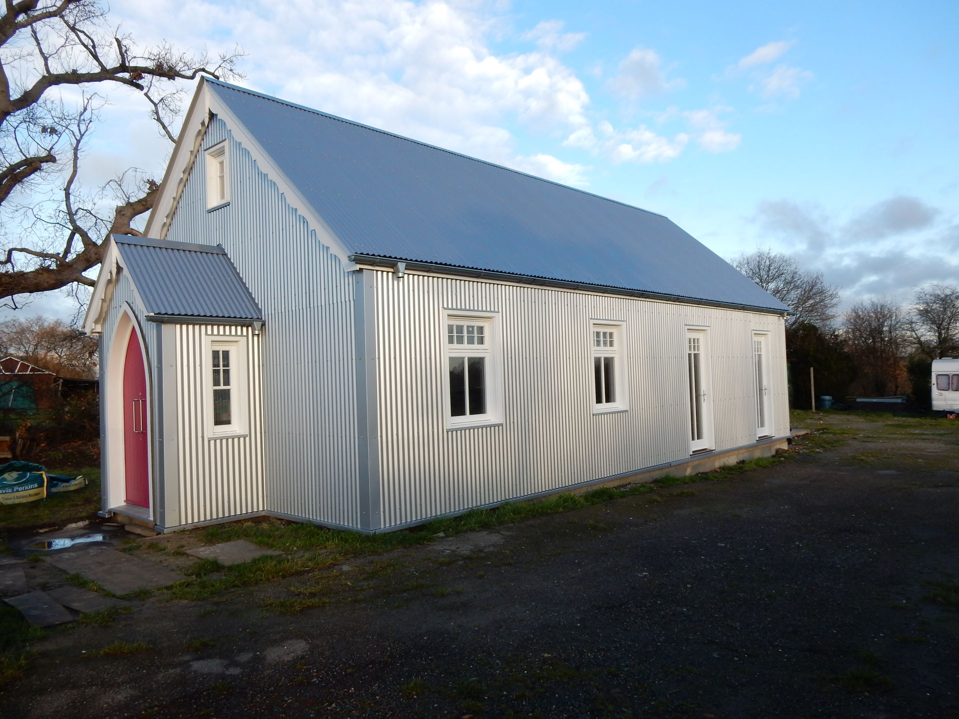 Parker Joinery supply Bereco traditional flush casement windows for corrugated metal building